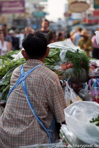 mobiles Gemüse Bangkok Khao San Road