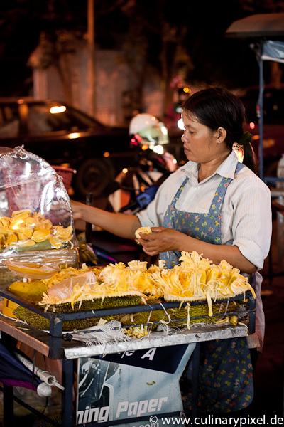 Durian Stinkfrucht Khao San Road Bangkok