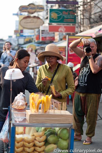 Mango Händlerin Khao San Road Bangkok