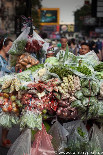 Gemüsewagen Khao San Road Bangkok