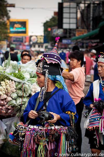 Souvenirs und Gemüse Khao San Road Bangkok