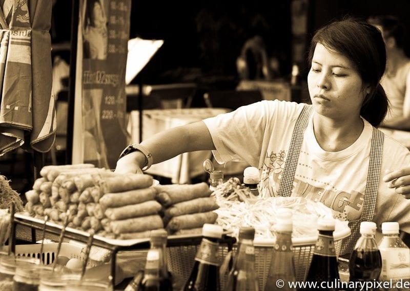 Frühlingsrollen Khao San Road Bangkok