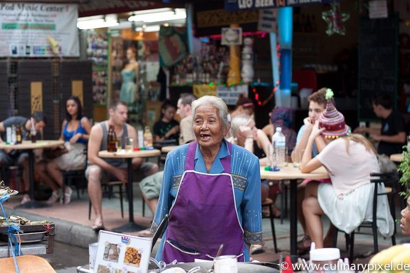 Händlerin Khao San Road Bangkok