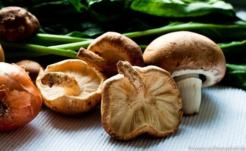 Tagliatelle mit Spinat & Pilzen