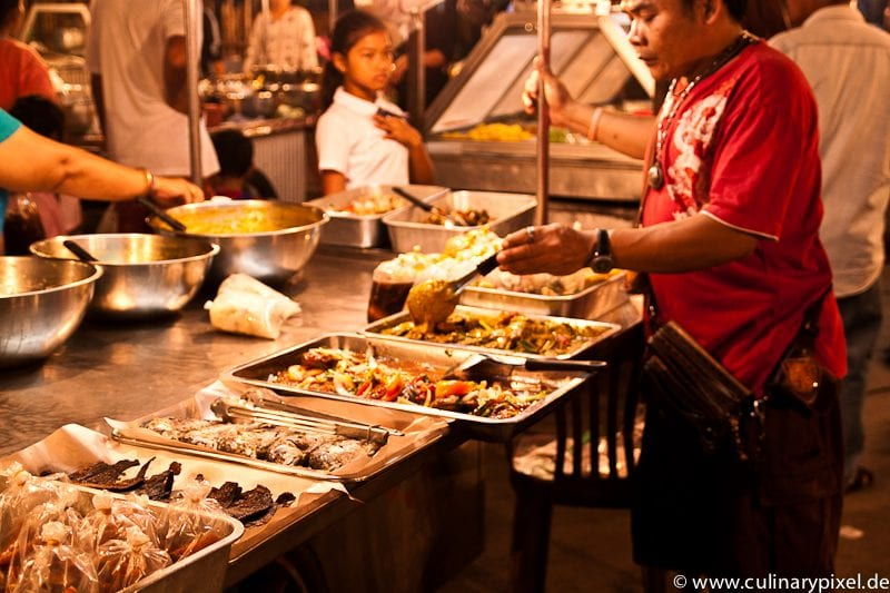Fischauswahl Thong Sala Night Market, Koh Phangan, Thailand