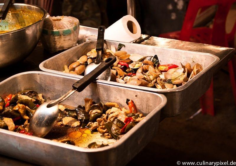 Muscheln Thong Sala Night Market, Koh Phangan, Thailand
