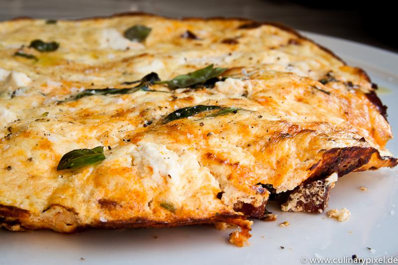 Chorizo Ricotta Spinat Frittata