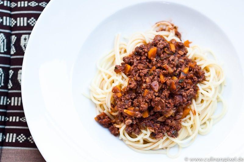 Lammhack & Rinderhack Spaghetti Bolognese