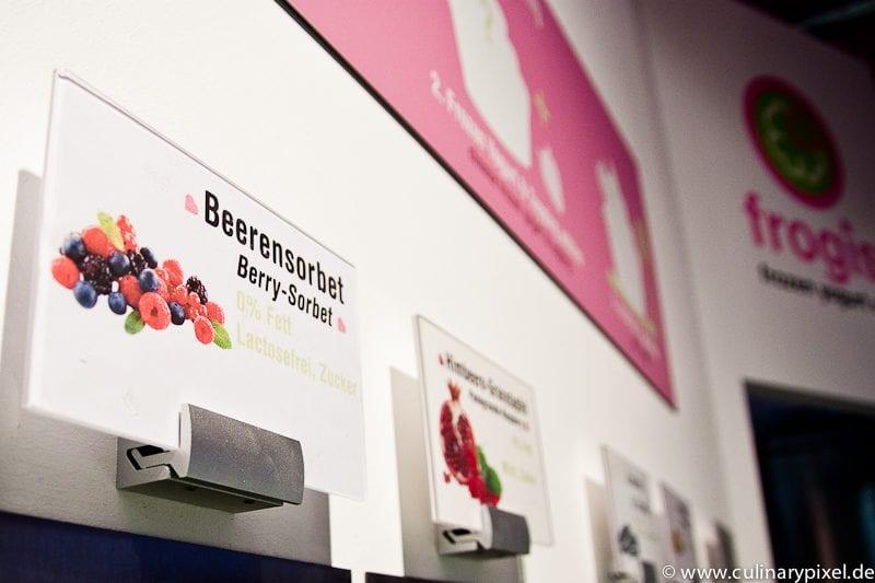 Sorten bei frogis frozen yogurt München