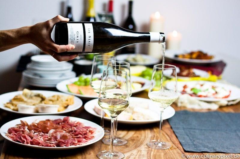 Verkostung San Daniele Schinken & Weißwein