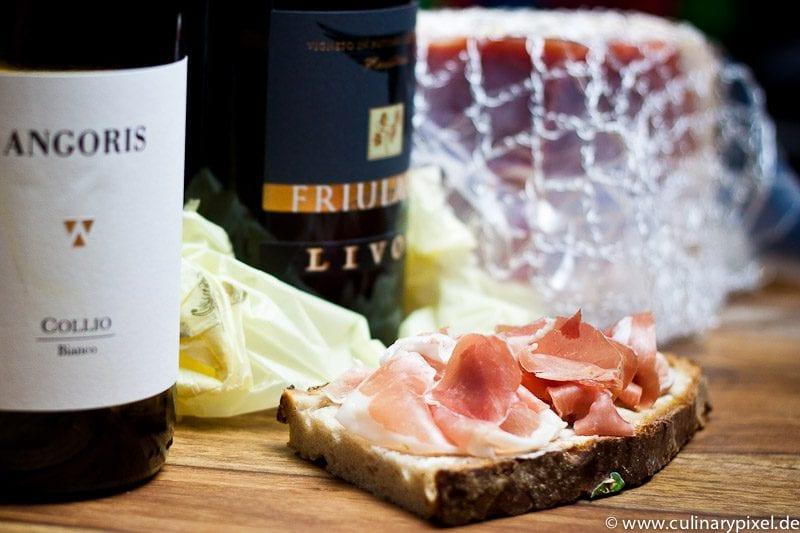 San Daniele Brot & Weißwein aus dem Friaul