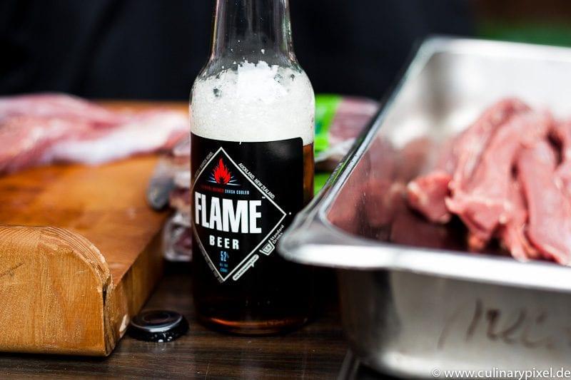 Flame Bier Neuseeland Lamm BBQ