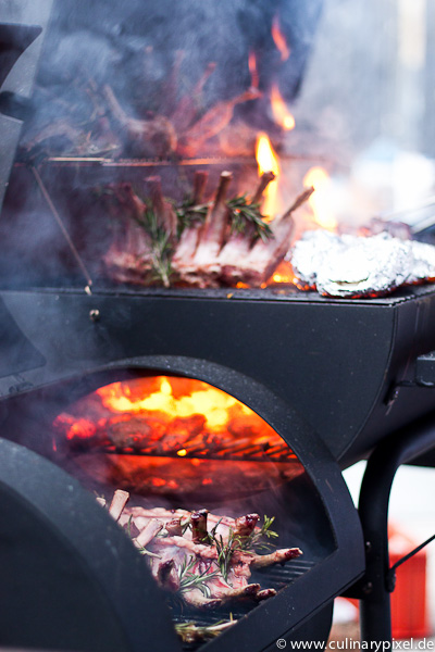 Neuseeland Lamm Karree auf dem Grill