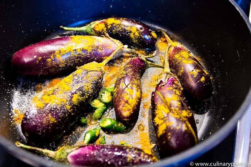 Auberginencurry in Kokossauce indisch