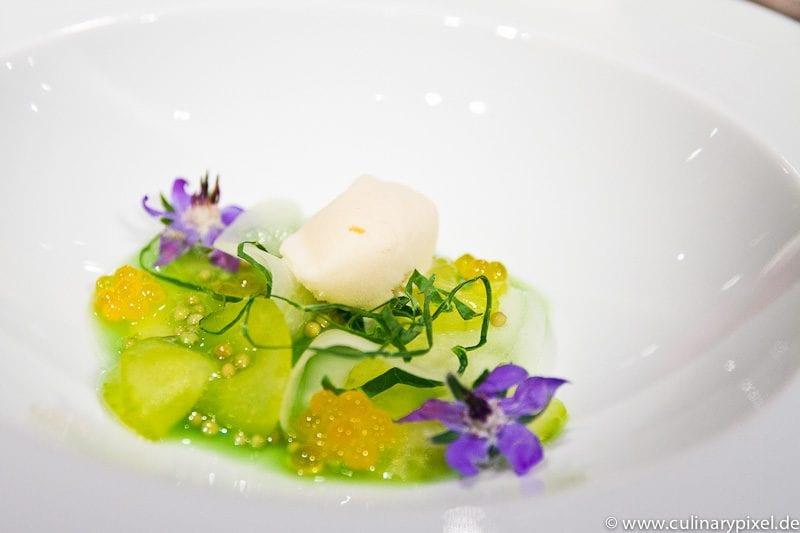 Brioche-Eis Gurkensalat Atelier Bayerischer Hof
