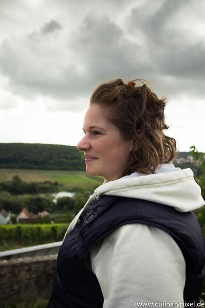 Melanie Stumpf-Kröger am Kapellenberg