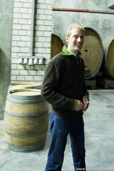 Martin Schmitt im Weinkeller