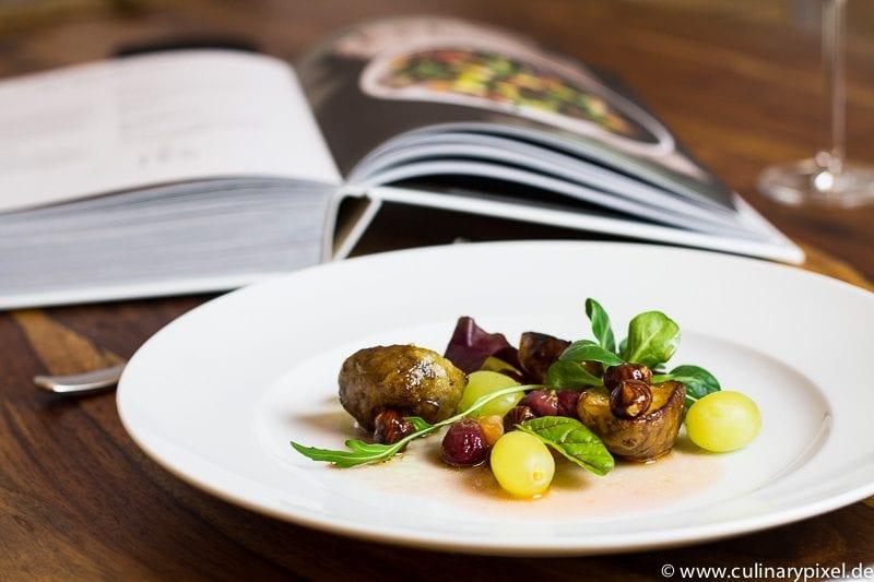 Topinambur, Rohmilchkäse, Trauben & Haselnüsse nach Daniel Humm I love NY