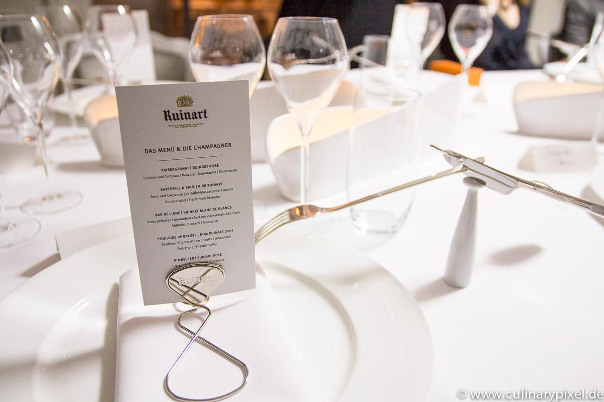 Ruinart White Room gastiert im Restaurant Käfer-Schänke - culinary ...