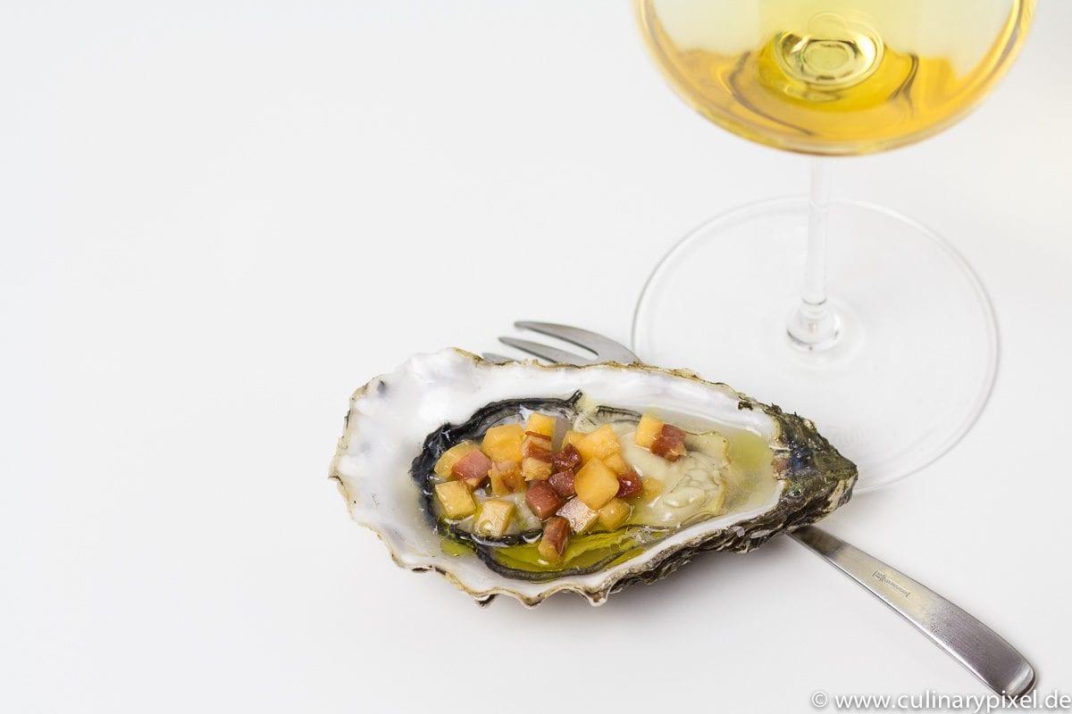 Süßer Bordeaux mit Austern