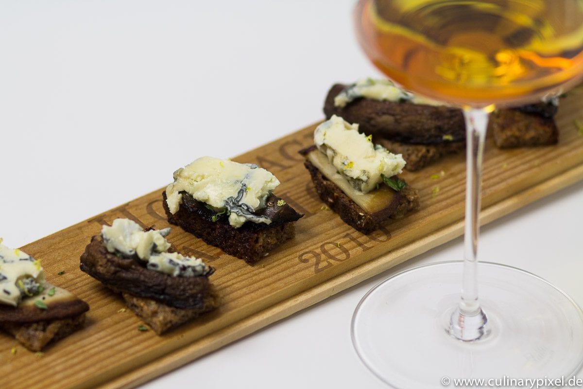 Süßer Bordeaux, Saint Agur, Portobello Pilze