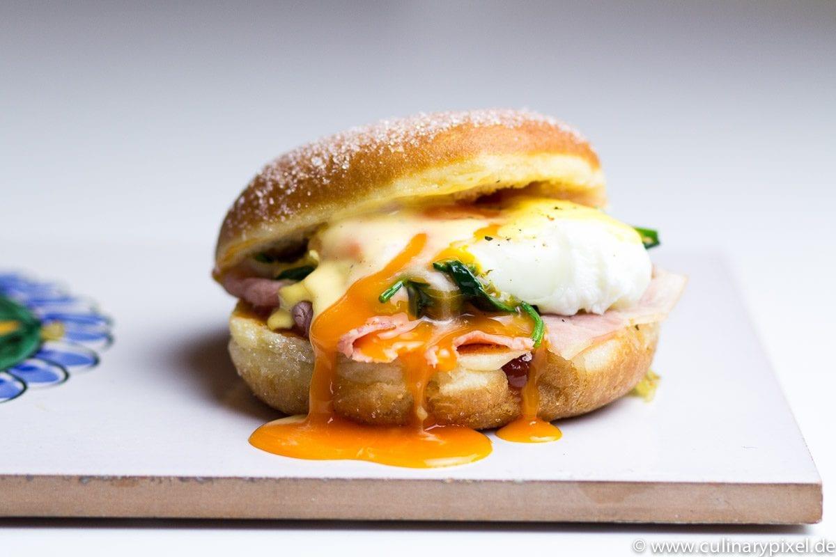 Eggs Benedict Krapfen