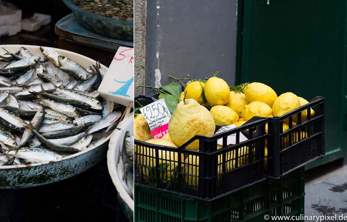 Fisch & Zitronen Fischmarkt Neapel