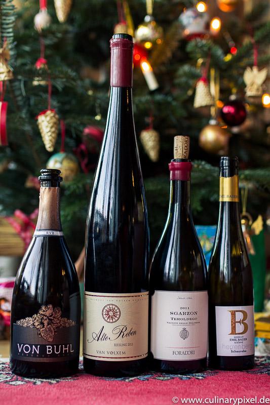 Weinbegleitung zum Weihnachtsmenü