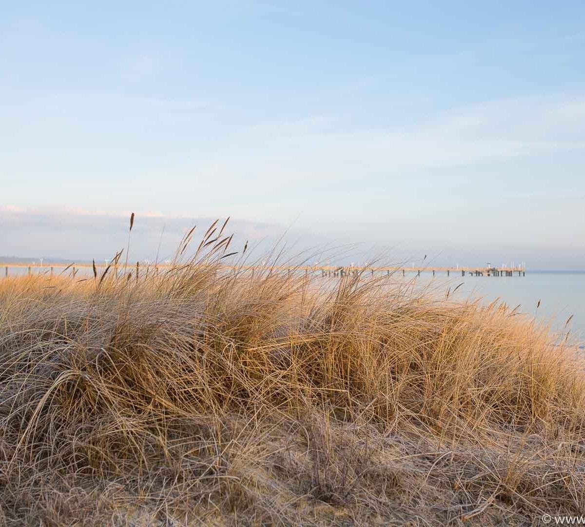 Seebad Binz - Strand im Winter
