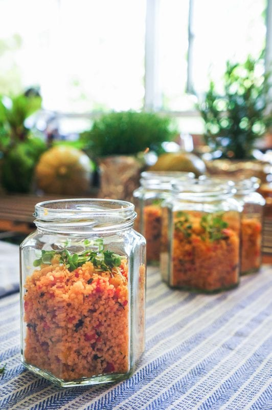 Couscous mit Harissa-Paste