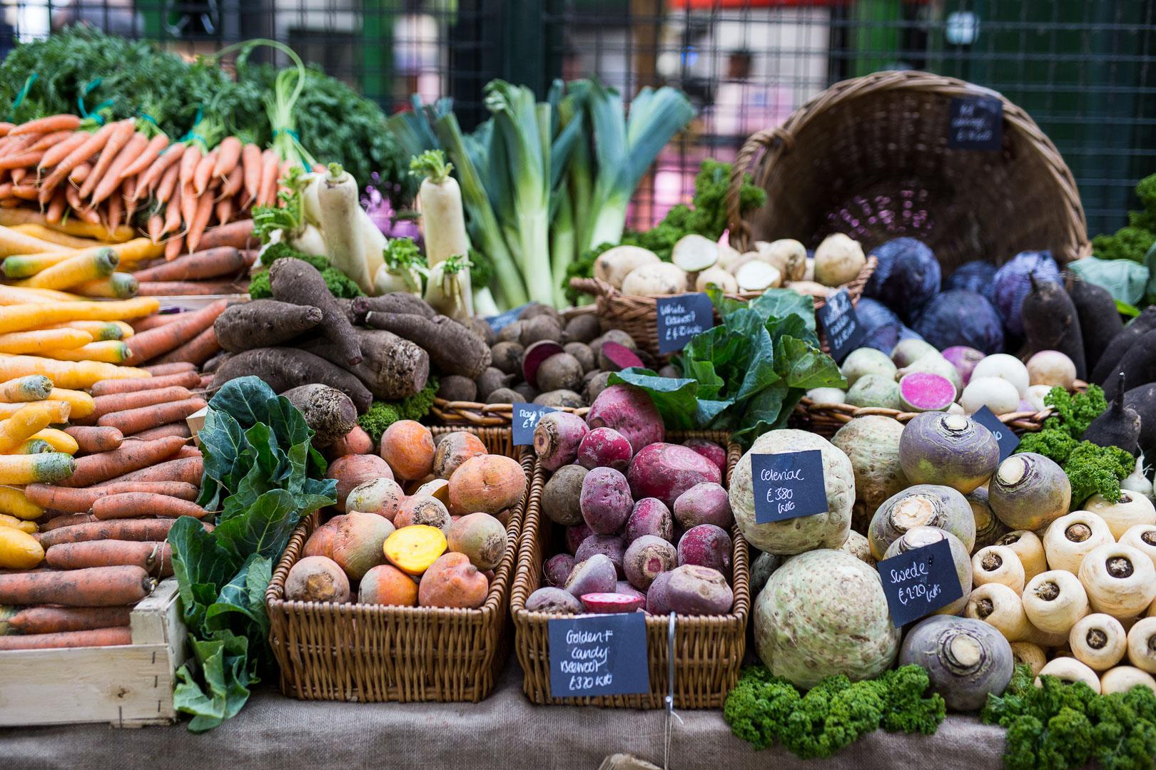 Buntes Gemüse am Borough Market London