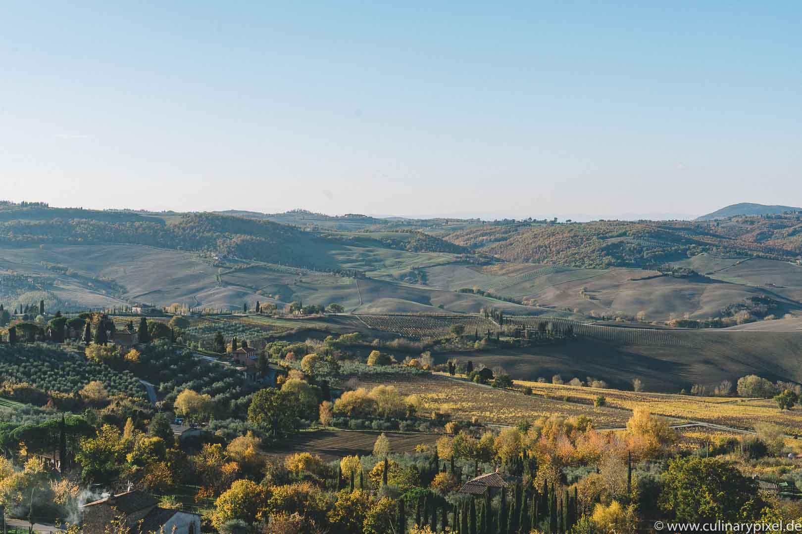 Montepulciano, Toskana im November