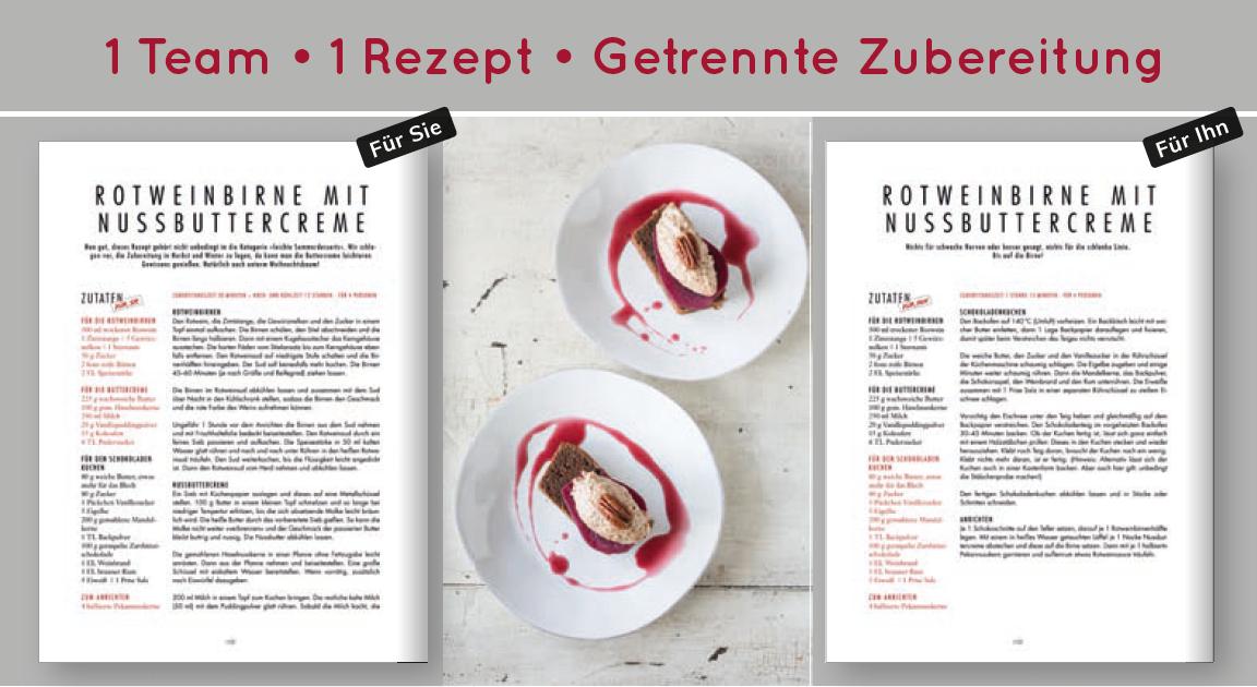 Kochbuch für Paare Kiss & Cook, Annette Sandner & Michael Riedl