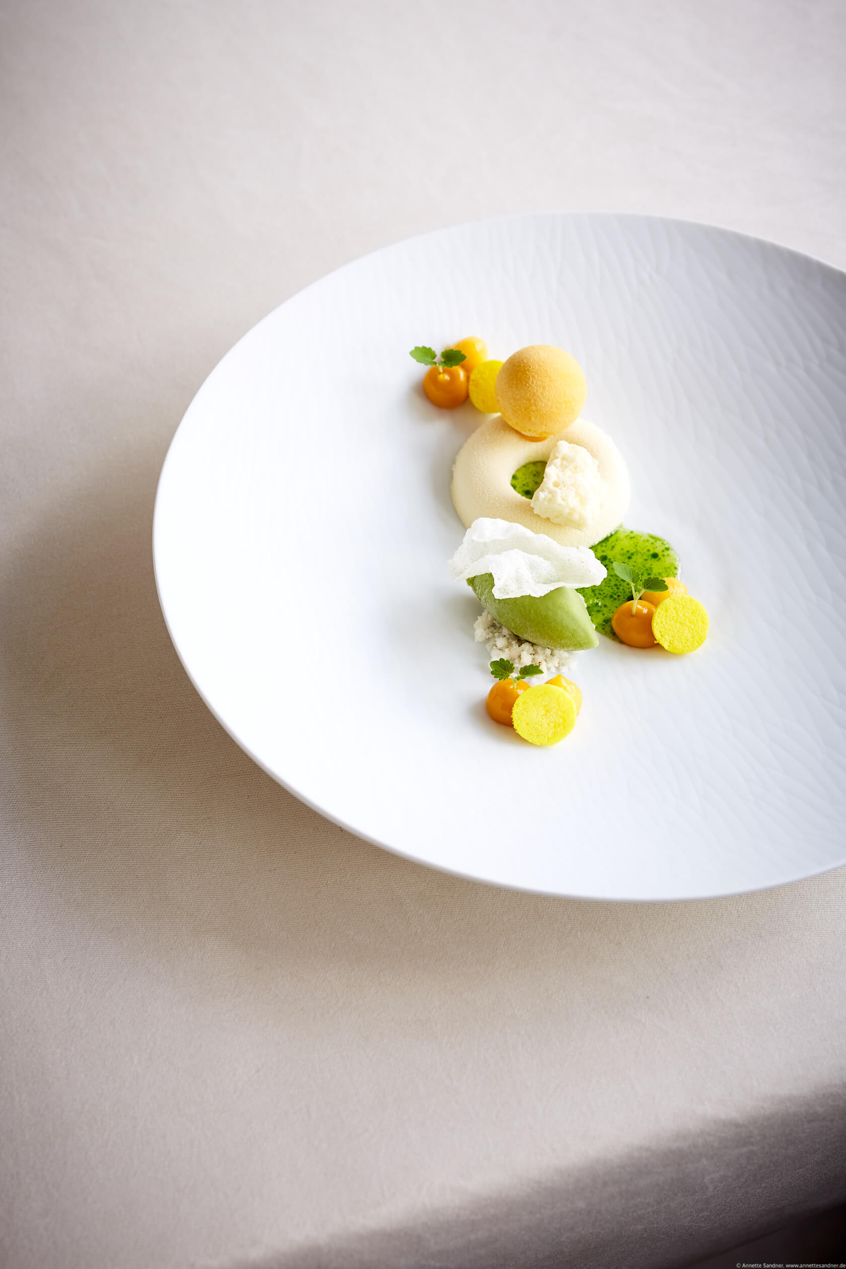 Felchlin Schokolade Mango, Thaibasilikum, Gourmet Restaurant Olivo, Anton Gschwendtner