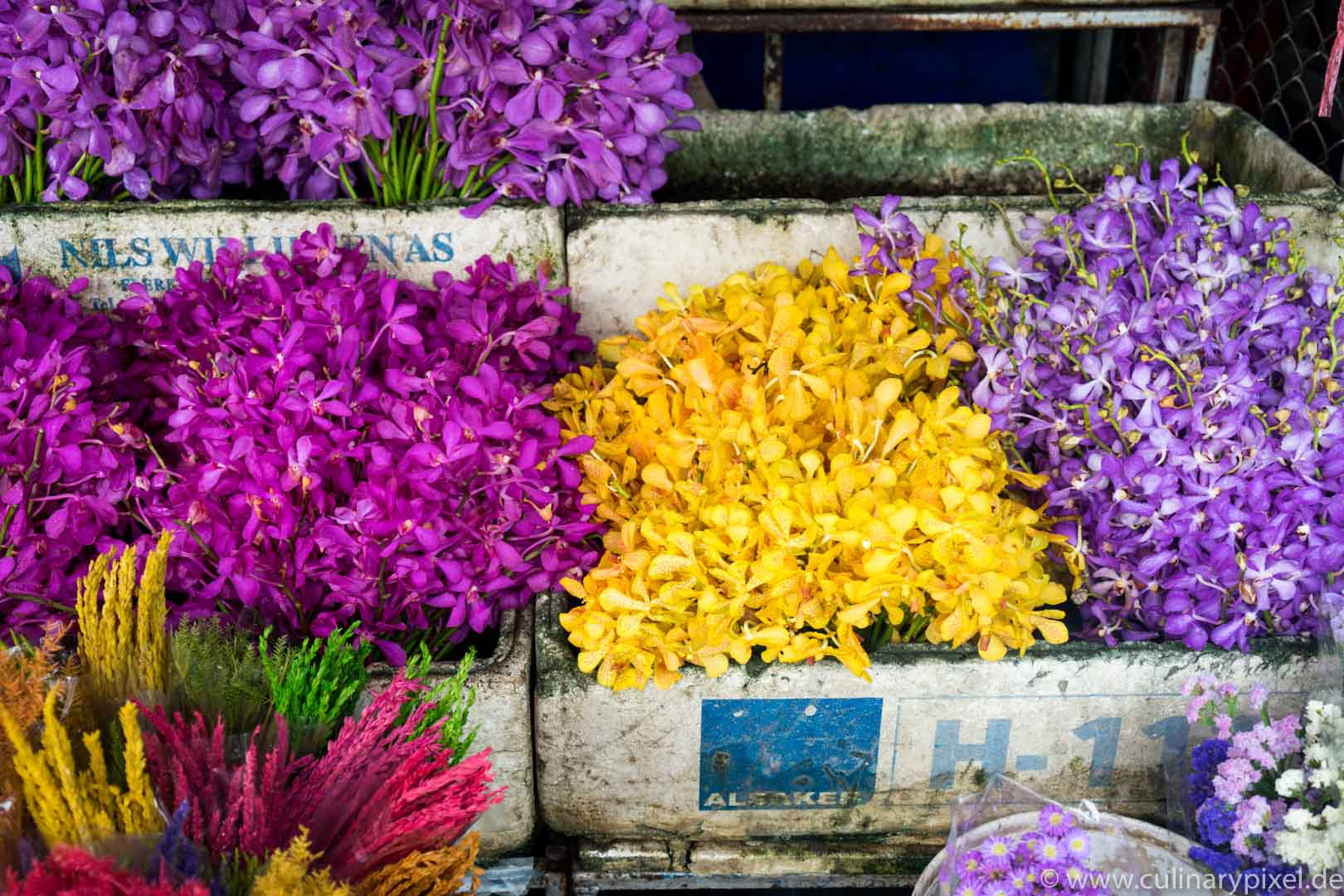 "Ton Lam Yai ""Flower Market"" & Warorot Market. Chiang Mai. Thailand"