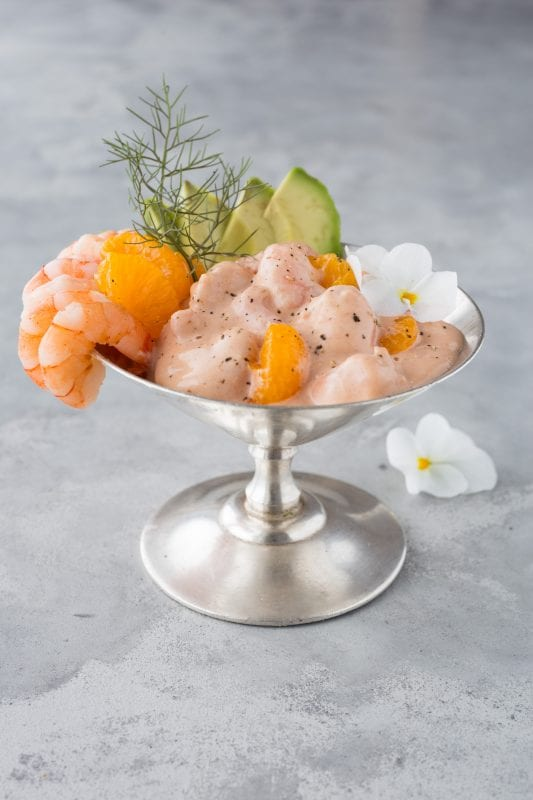 Krabbencocktail mit Mandarinen, Avocado & Cocktailsauce