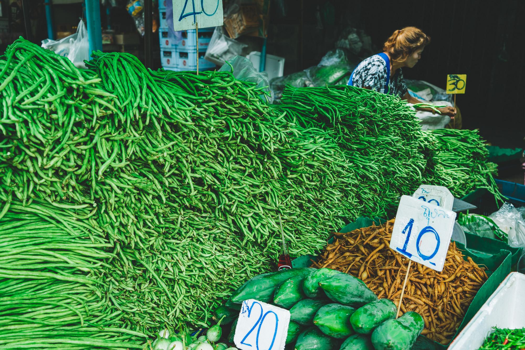 Khlong Toei Market Bangkok Thailand
