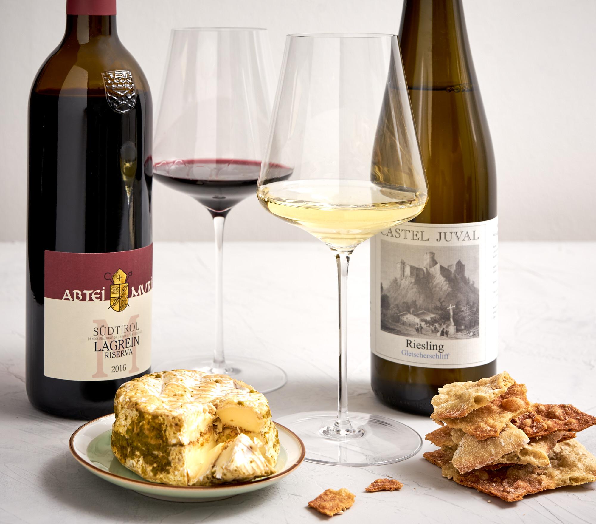 Wein aus Südtirol: Castel Juval Riesling Gletscherschiff & Muri-Gries Lagrein Riserva Abtei