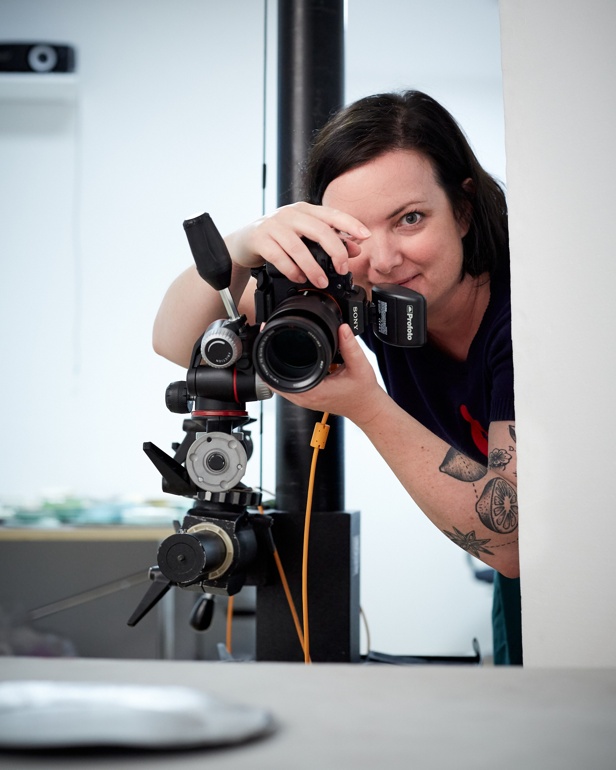 Annette Sandner im Foto-Studio